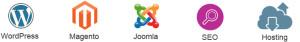 magento wordpress joomla