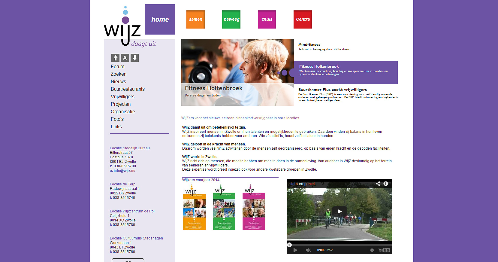 Joomla website Wijz Zwolle