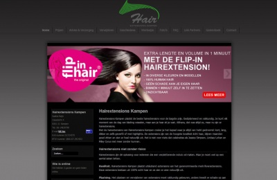 Joomla webdesign Hairextensions Kampen