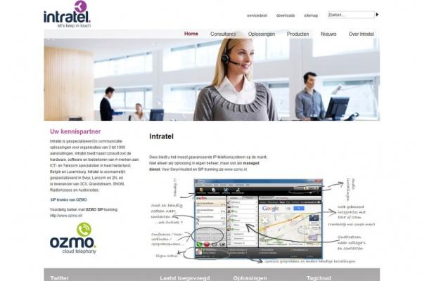 Joomla webdesign Intratel
