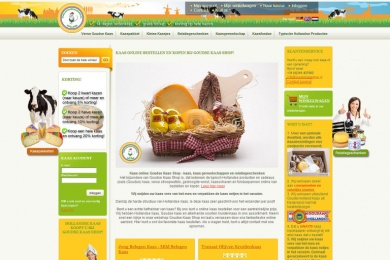 Webdesign en SEO Goudsekaasshop door Netfort