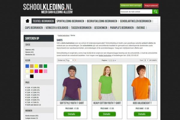 Schoolkleding.nl - Netfort SEO en Webdesign Kampen