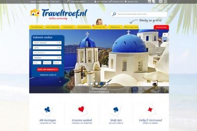 Traveltroef - webdesign