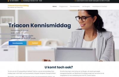 Wordpress website case study Triacon